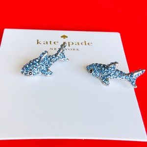 Kate Spade california dreaming pave shark studs